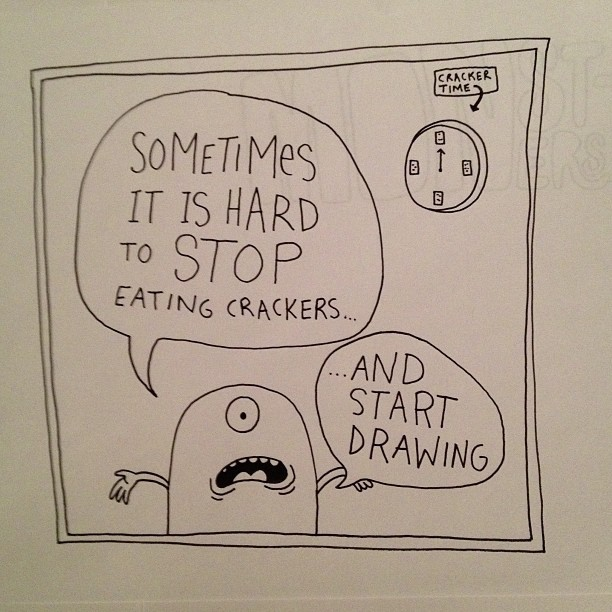 chrispiascik:  This is an old drawing about crackers.