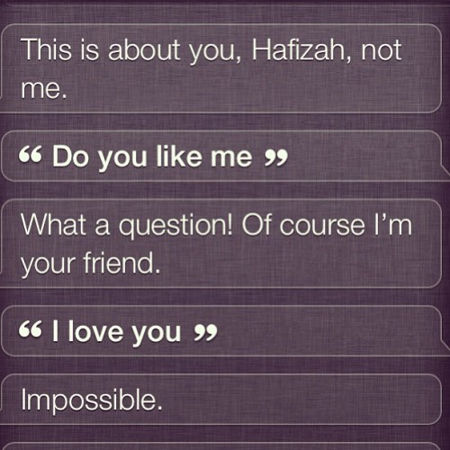 #conversation with #siri 😉