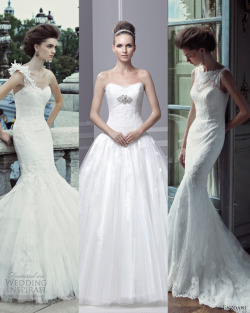 "Here's our top 3 picks from Enzoani ""Timeless"" 2013 Wedding Dress Collection. What's your pick?"