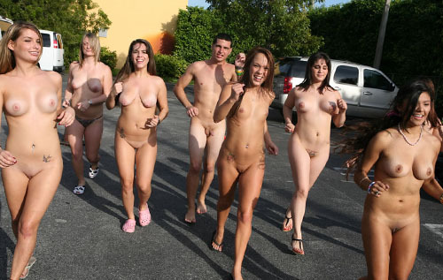 College Naked Mile Nude Run