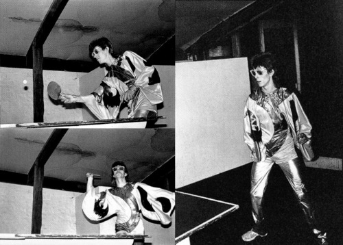 papermag:  David Bowie playing ping-pong. Happy Friday!  [via ThisIsNotPorn]