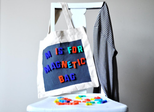 Magnetic Book Bag {How to} Found at: ducksinarowevents