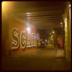 """Scary"" at Rivington Street #shoreditch #spitalfields #hoxton #london #street #night #passage"