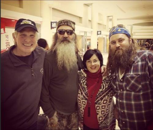 Old college buddies Phil Robertson with Terry Bradshaw