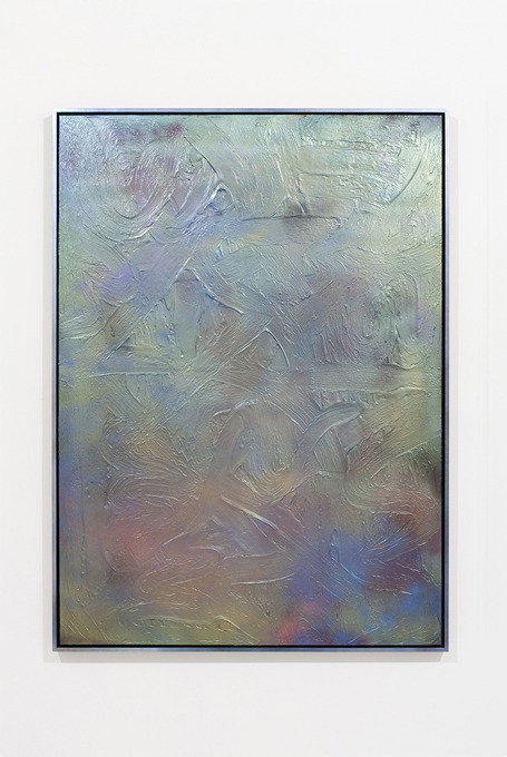julianminima:  Parker Ito Untitled (Ocean's Rip), 2013 Enamel and modeling paste on canvas with wood frame 166.4 x 120.6 cm