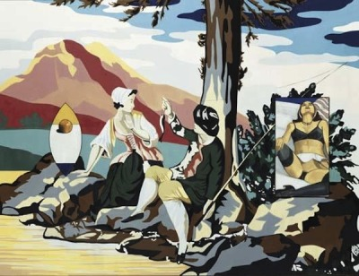 David Salle, Pastoral with Nude, 1999
