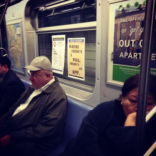 POLICY ADVISORY Where there's a will, there's an app. (M train; car 8552)
