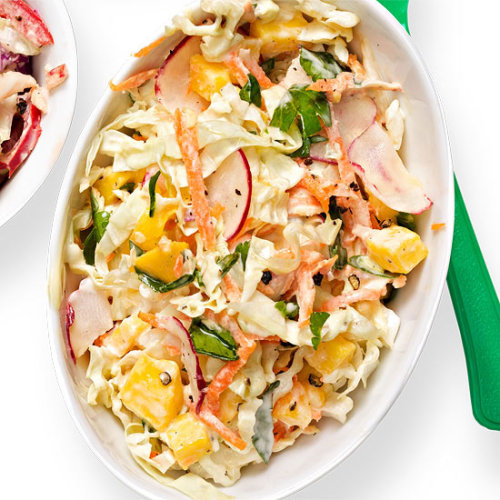 Daily Bite: This Mango-Radish Coleslaw is the perfect summer side dish.