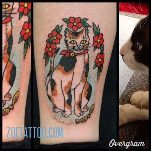 #thirdeyetattoo #thirdeyemelbourne #zoetattoo #cattattoo (at Third Eye Tattoo)