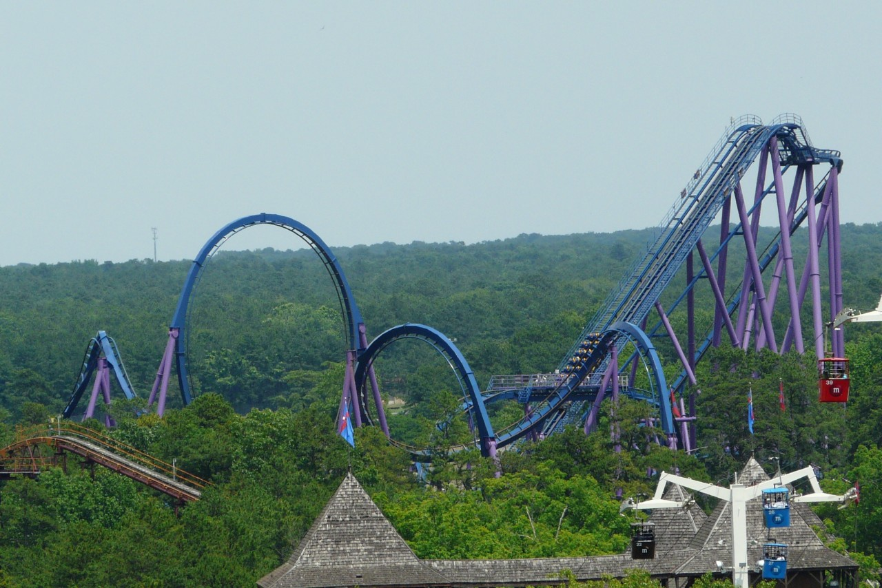 rollercoastersrock:  Bizarro Six Flags Great Adventure