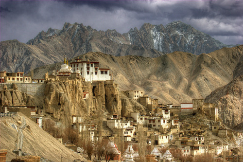 visitheworld:  Lamayuru Monastery, north of the Himalaya range in Ladakh, India (by ©haddock).
