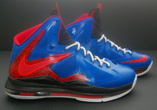 freshkicks13:  Nike Lebron 10 Spiderman Custom