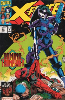 domitianvs:  X-Force #23  June 1993 One of my favorite Domino covers.