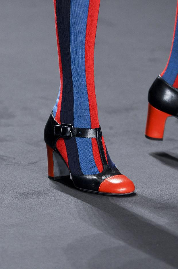 Striped blue+red socks by Anna Sui AW2013