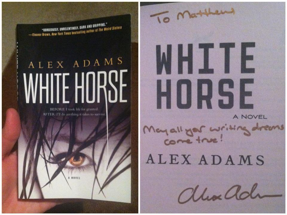 I received this from Alex Adams today! Her inscription really touched me. It means so much to have support from established authors, especially since I'm beyond stressed and worried about my own novel. Needless to say, Alex Adams is awesome.