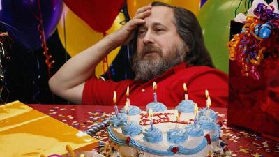 Happy 60th, Richard Stallman Father of the free software movement, creator of the GNU project, pioneer of copyleft, winner of the 1990 MacArthur Genius Grant and founder of the Free Software Foundation. If you don't know Stallman or his work, do visit the links above. In an age where our ability to create, communicate and collaborate is dependent on the software, Web sites and social networks we choose, it's important to understand the stakes inherent in our decisions. And then read Stallman's epic 9,350 word longread on how you should work with him if you'd like him to speak at your event or organization. Image: Via ReadWrite.
