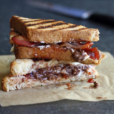 nestle crunch bacon-raspberry panini click here for recipe