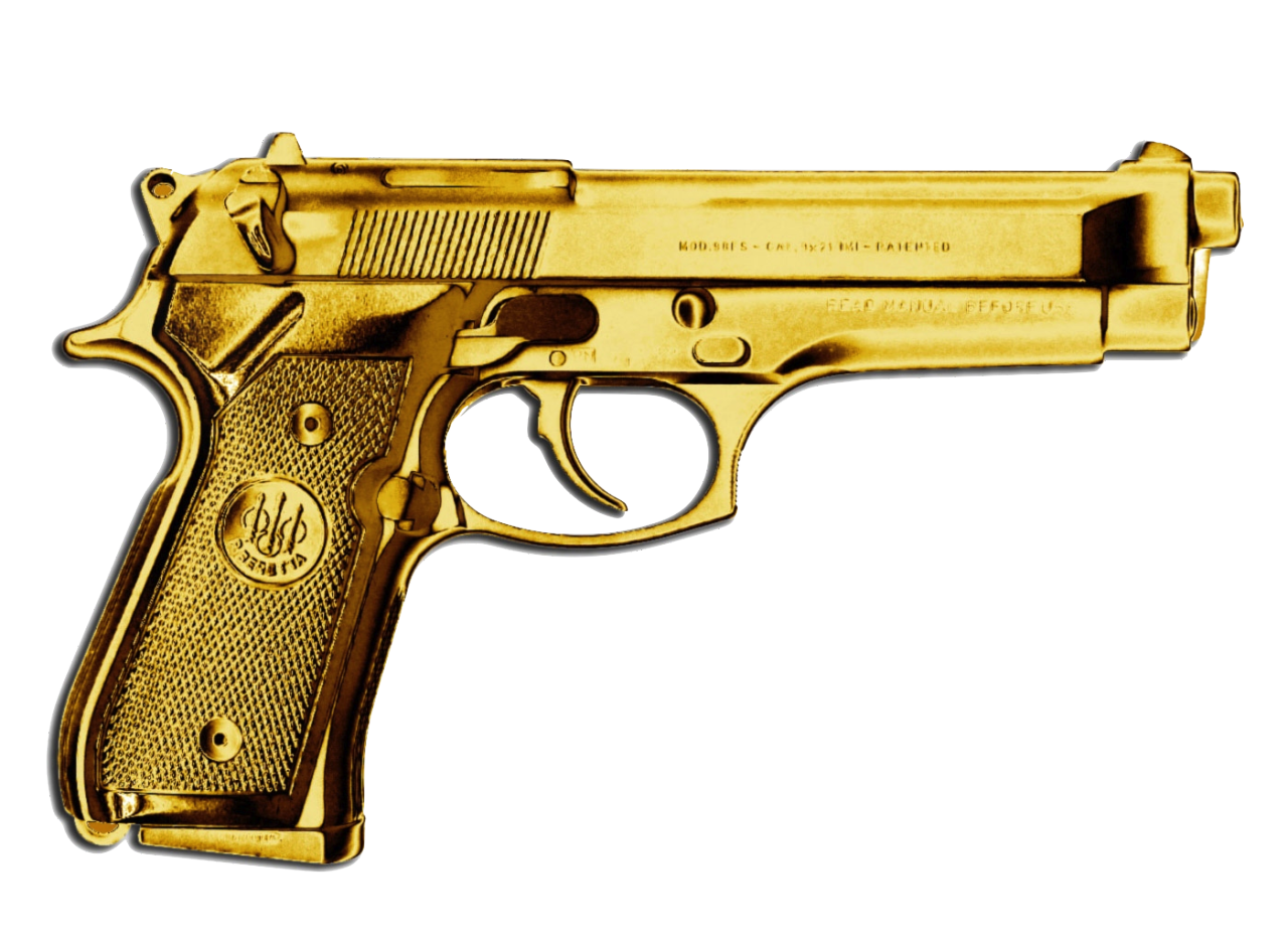 TRANSPARENT GOLD GUN!