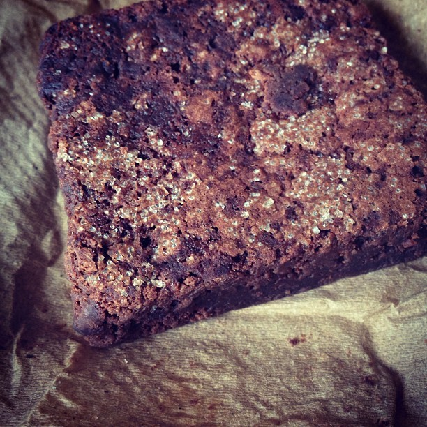 We got some brownies from our favorite people at @brooklynbaker. Insannnnnely good. #hello #brownie #chocolate