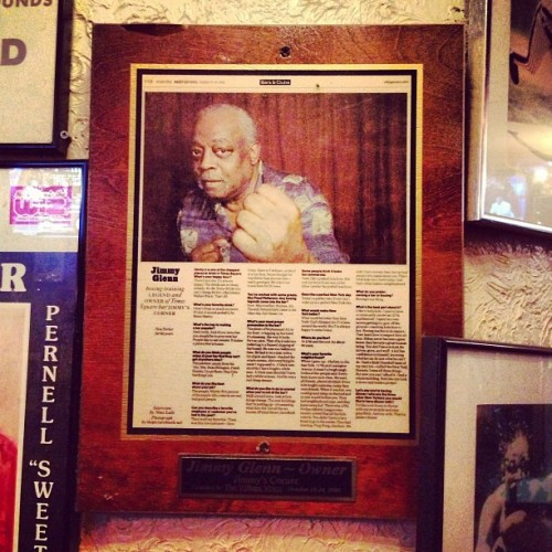 The man. The myth. The legend. Jimmy Glenn. (at Jimmy's Corner)