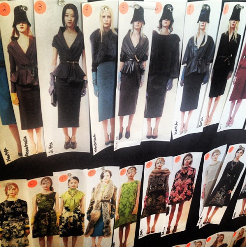 teenvogue:  The model lineup at Oscar de la Renta. Photographed by Elaine Welteroth