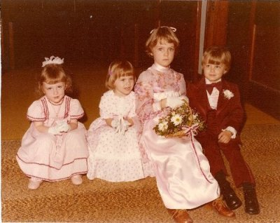 Even back then I didn't like to wear pink. Me, on the far left.