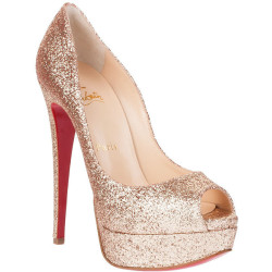 mafashiooon:  Christian Louboutin pumps ❤ liked on Polyvore (see more glitter heels)