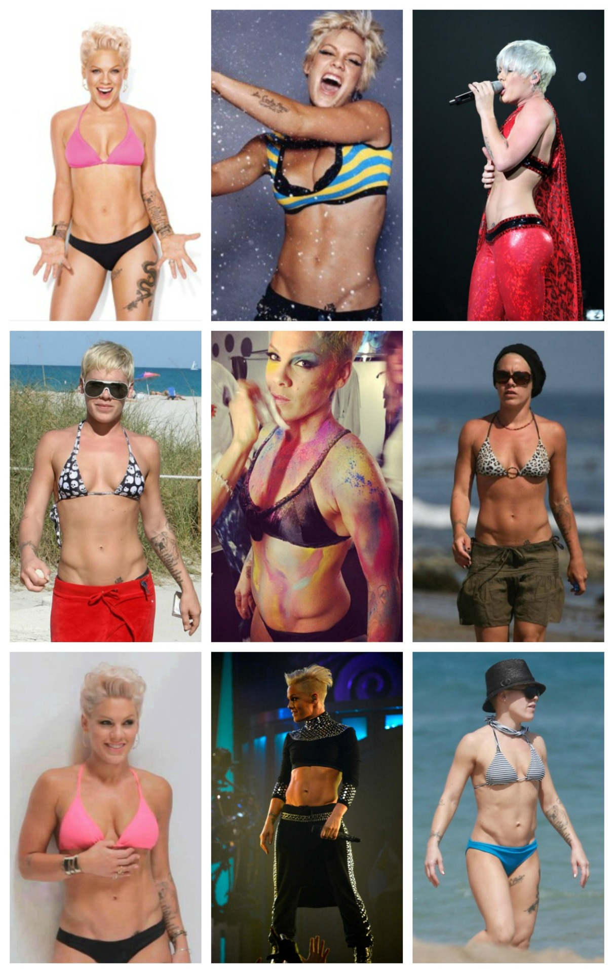 69shadesofgayy:  icecreamandponies:  P!nk abs appreciation post  MY BABY