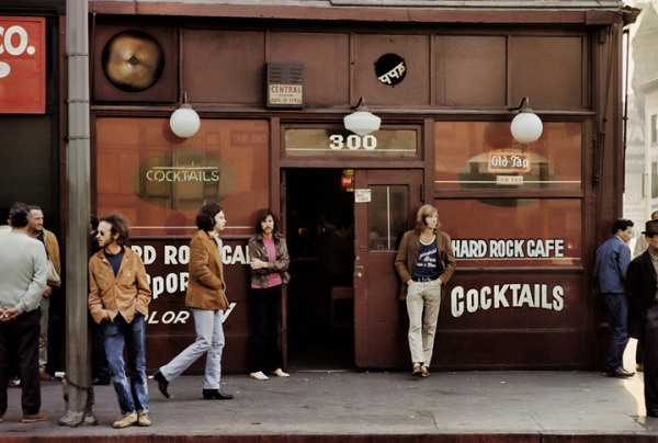The Doors outside the Hard Rock Cafe in downtown Los Angeles.