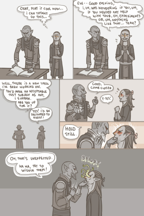 velvettodraws:  What a moodkill…  If that's a moodkill you're not Telvanni enough to be with a Master.