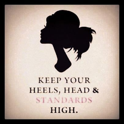 channelnine:  TGFS - Thank God for Shoes! Keep your head, heels, and standards high.