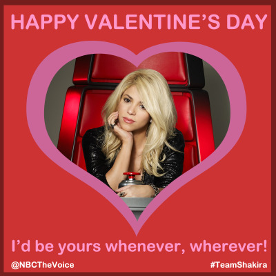 nbcthevoice:  Our hips don't lie, we want YOU to be our Valentine!
