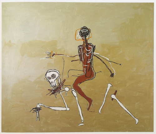 bodyandlight:  Jean-Michel Basquiat (1960–1988). Riding with Death, 1988.