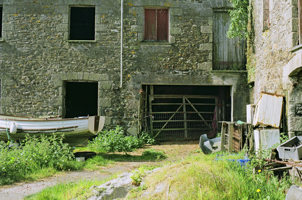 Old barns. Nikon FE10 and Fuji 100 film.
