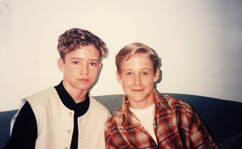 "canadianoftheweek:  fuckyeahmcgosling:  Justin Timberlake & Ryan Gosling - 1994  To go along with our earlier post of Young Gosling's ""Mickey Mouse Club"" tour of Cornwall, Ontario."