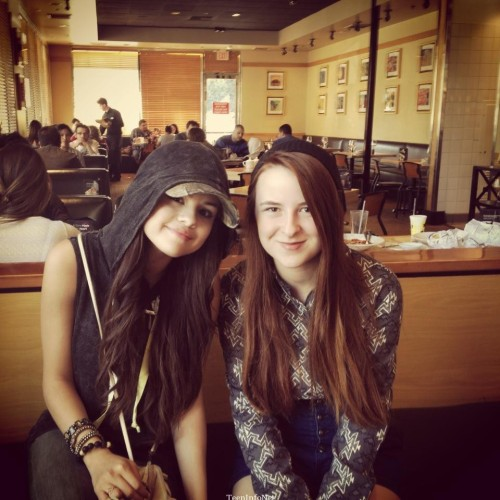Selena with a fan today!