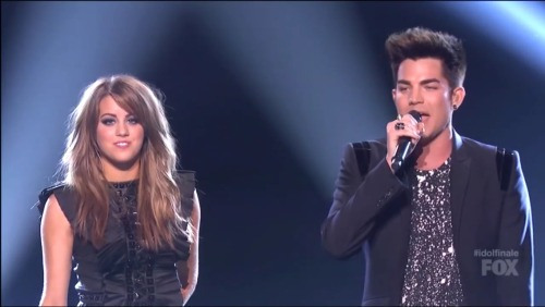 Angie performed 'Titanium' with Adam Lambert