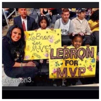 lyriqzphotography:  Kobe's Wife & Kids say @kingjames #MVP