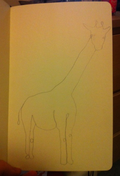 a simple giraffe