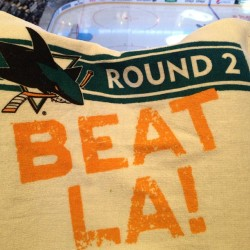 Lets go boys! #beatla #sanjosesharks #sjsharks #playoffs #nhl #sharksterritory #bleedteal #hppavilion  (at HP Pavilion at San Jose)