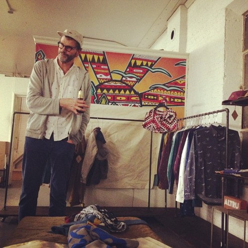 Here's Jonny (at Altru Apparel Headquarters)