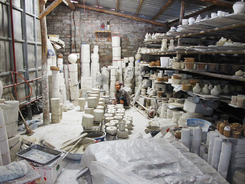 "Ancient Ceramics Factory in Vietnam  Sheryo x The Yok go to Vietnam to paint some vases for their ""Pipe Dreams"" Show in NY www.sheryoart.com"