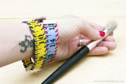 craftdiscoveries:  Tutorial: Measuring Tape Bracelet | The Zen of Making via Crafty Pod's Sister Diane