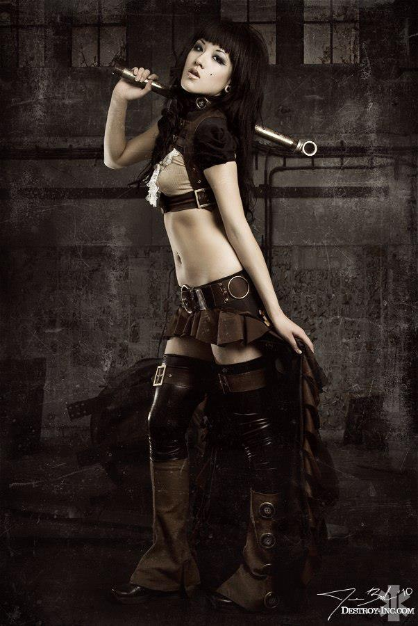 ilovegothgirls:  Miss Brown with the pipe in the workshop
