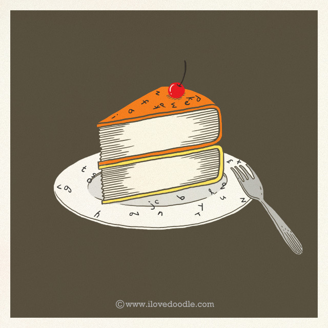 magicfran:  A slice of books by ILoveDoodle on Flickr.