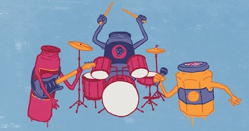 Let's Jam by matterr is up for scoring on Threadless! Is anyone else jamming to some tunes over breakfast?