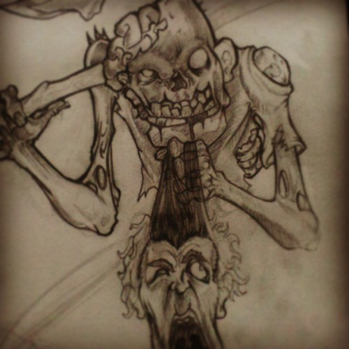 Shirts coming soon! #tshirt #sketch #art #draw #zombies #design #follow #followme #zombicidal