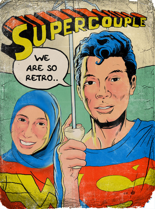 Supercouple Learn old comic style.. just for fun.. :))