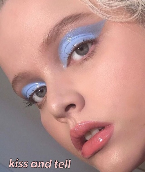 retrowave vaporwave vintage aesthetic kiss and tell 80& 039;s retro retro ad pale aesthetic aesthetic pastel