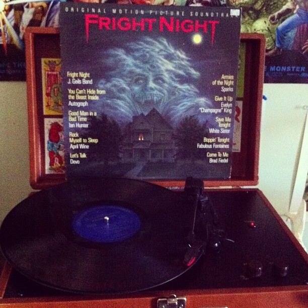 "aplacebothwonderfulandstrange:  ""Fright night! Whose it going to be tonight? Lock your doors and windows tight…""  so cool."
